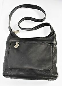 Image Is Loading Vintage Tignanello Black Leather Hobo Purse Shoulder Bag