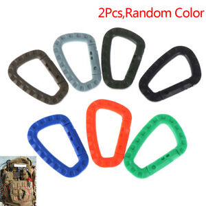 2-Pcs-Plastic-Carabiner-D-Ring-Key-Chain-Clip-Hook-Outdoor-Camping-Buckle-SnapVe