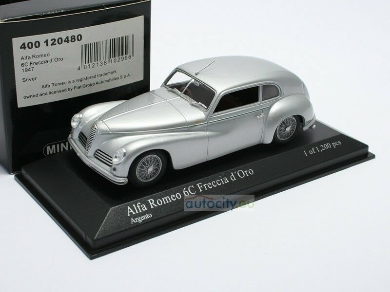 MINICHAMPS MINICHAMPS MINICHAMPS ALFA ROMEO 6C FRECCIA D'gold silver 400120480 790599