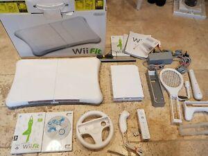 Nintendo-Wii-Fit-Console-Com-Controle-Remoto-Pacote-Mario-Kart-Nunchuck-Roda-Muito-Bom-Estado