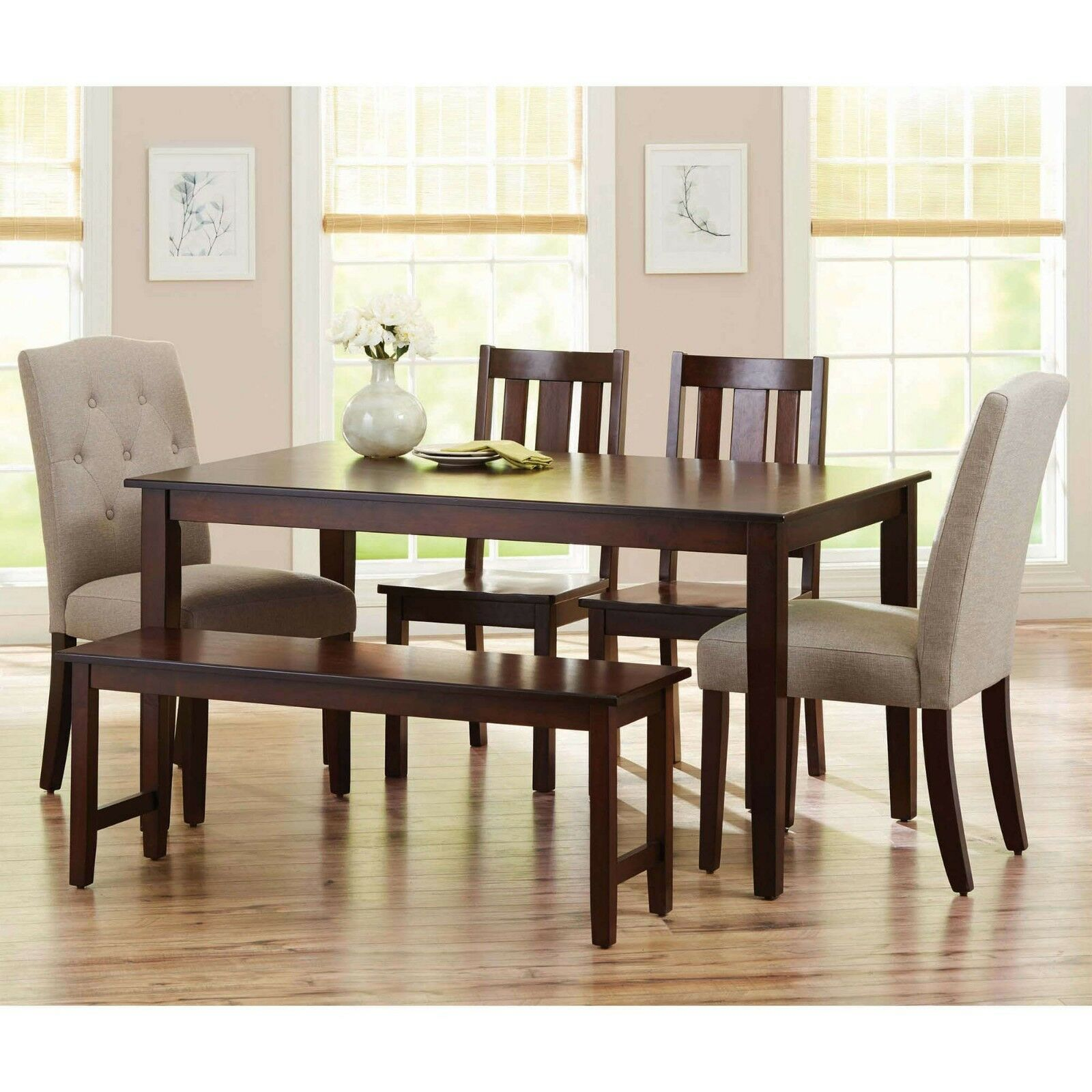 Farmhouse Dining Room Table Wood Kitchen Breakfast Tables 6 Person Rectangular For Sale Online Ebay