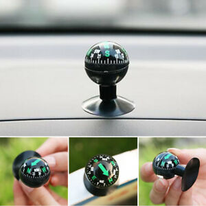 Black Pocket Ball Dashboard Dash Mount Navigation Compass Car Boat Truck Suction
