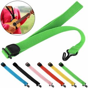 New Adjustable Nylon Ukulele Strap Sling With Hook For Ukulele Guitar