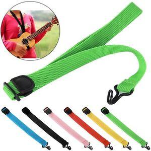 New Adjustable Nylon Ukulele Strap Sling With Hook For Ukulele Guitar