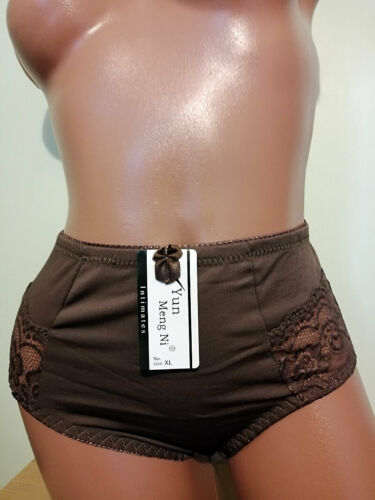 8 10 12 High Rise Soft Comfortable Milk Fiber Lace French Knickers Hot Pants