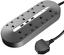 Miikare Extension Prise d/'alimentation avec ports USB PLUG Sockets avec 8 WAY EXTENSION