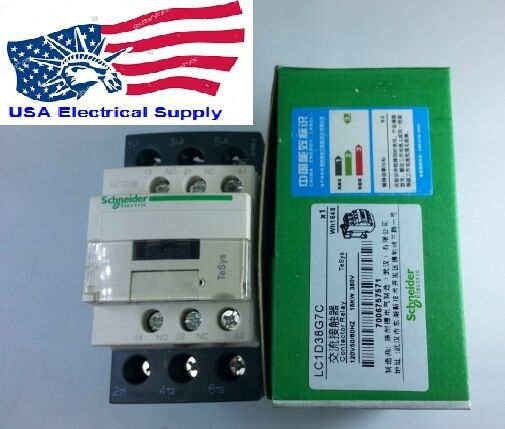 LC1D38G7C Schneider Contactor  With Coil 120V 50//60Hz
