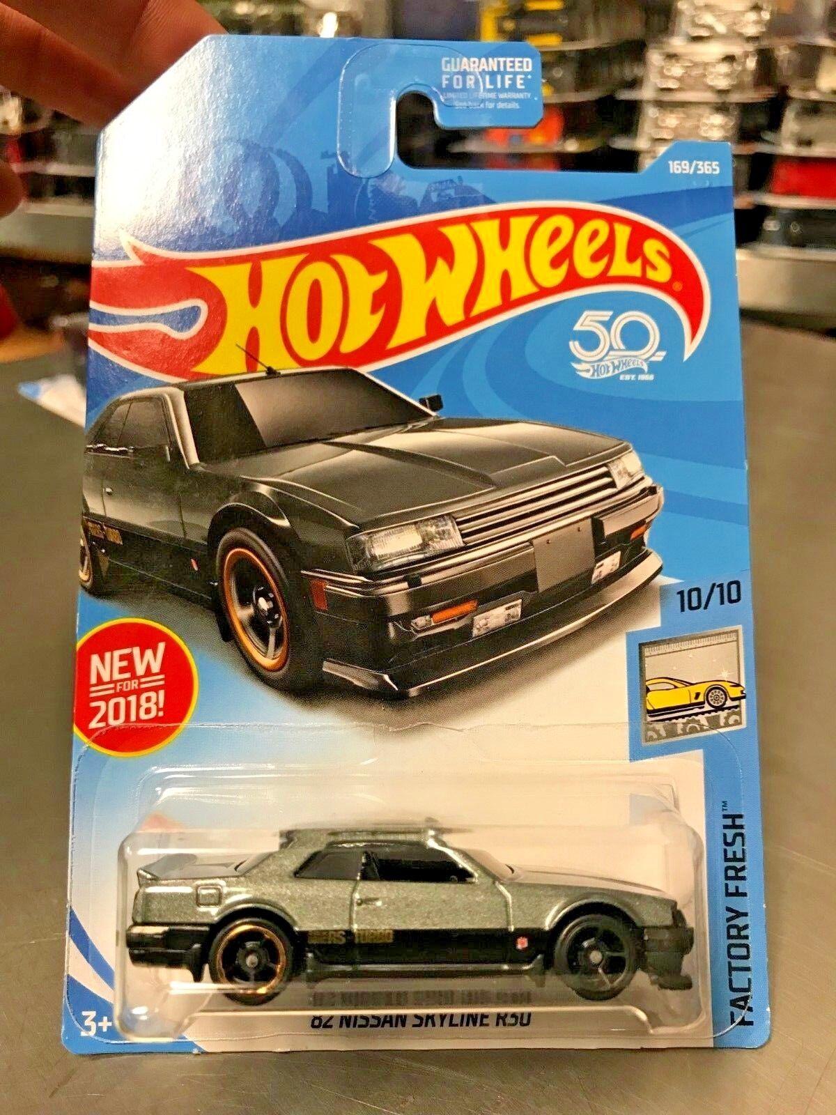 Error de Rueda de fábrica rara 2018 Hot Wheels'82 Nissan Skyline R30 muy difícil de encontrar variación