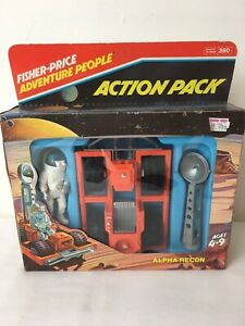 Fisher-Price-Adventure-People-1982-Space-Toy-action-pack-1980s