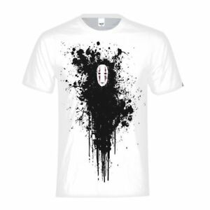Tee-shirt-homme-Spirited-Away-Lonely-No-Impression-de-Face-Blanc-Basic-Tee-Top-Casual-cadeau