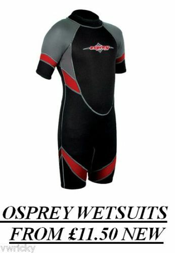 Rosso Nuovo Osprey Bambino Kids WETSUIT Shorty Shortie Blk