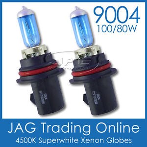 AQUATRACK 12V 9004 100/80W XENON WHITE 4500K HEADLIGHT CAR GLOBES/BULBS