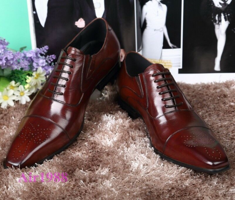 Luxury Uomo Oxfords Pelle Brogues Dress Formal Lace up Brogues Pelle Business Wedding Shoes f60925