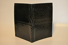 """Geary of Beverly Hills"" snake skin note and pencil Bifold wallet Organizer"