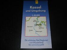 Fahrradkarte Tourenkarte Radwanderungen: Kassel und Umgebung