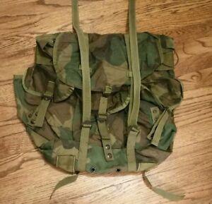 US Military Woodland Camo Alice Field Pack Radio Backpack Medium LC ... 4e0bc6e449b0