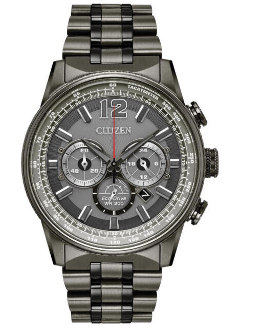 Citizen CA4377-53H Men's Nighthawk Chronograph Eco-Drive Watch