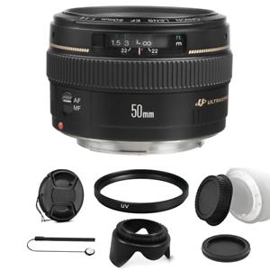 Canon EF 50mm F/1.4 USM Objektiv Bundle für Canon SLR Kameras