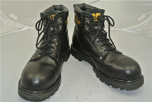 CATERPILLAR SIZE BLACK LEATHER Stiefel (UK SIZE CATERPILLAR 10) STEEL TOE CAP WALKING MACHINES 2f2d7f