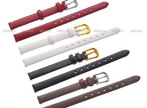 6-10mm-Solid-Smooth-Genuine-Leather-Buckle-Slim-Watch-Strap-Band-Bracelet-LSM18