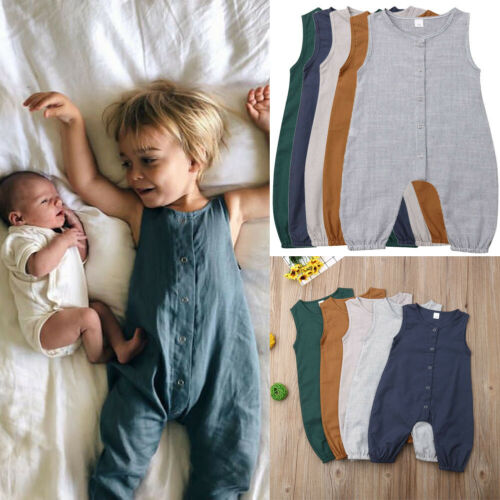 USA Baby Boy Girl Toddler Newborn Romper Jumpsuit Bodysuit Clothes Outfit 0-24M