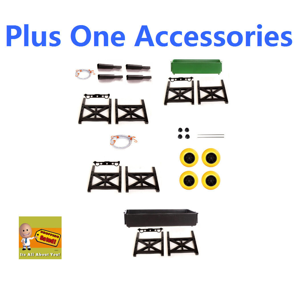 Plus One Cart Mighty Max Parts  Accessories Tub Fishing Pole Holders Cargo Wall  cost-effective
