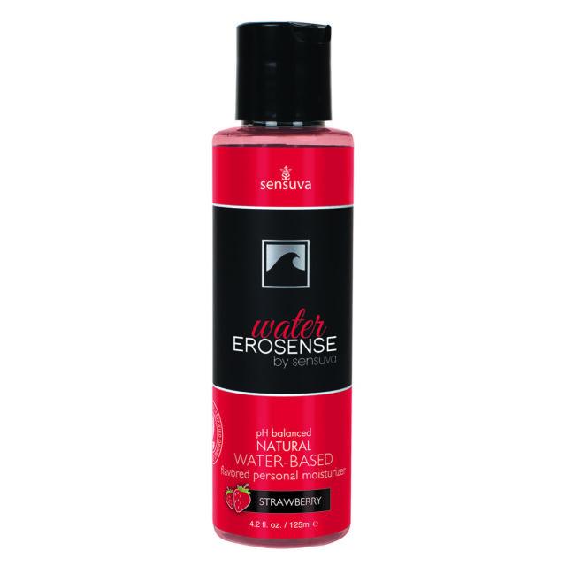 Sensuva Erosense Water Natural Water Based Personal Lubricant Strawberry 4 Ounce
