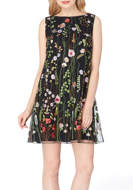 f3407467d2d21 TAHARI ASL Embroidered Floral Shift Dress for Woman Size 4/6/14 NWT $148