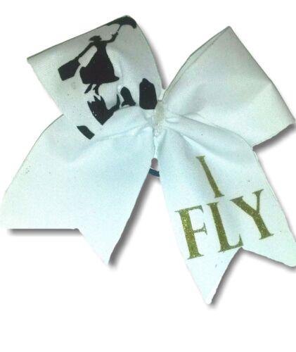I Fly Mary Poppins Sparkly Cheer Hair Bow