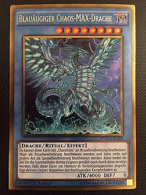 Gold Rare NM YUGIOH! Blauäugiger Chaos-MAX-Drache MVP1-DEG04 1 Auflage!