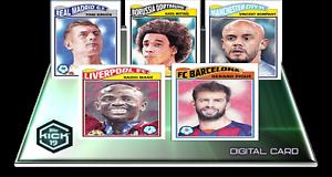 + 2019 UCL Living gota 4 juego completo de 5 Mane//KROOS Topps patada tarjeta digital