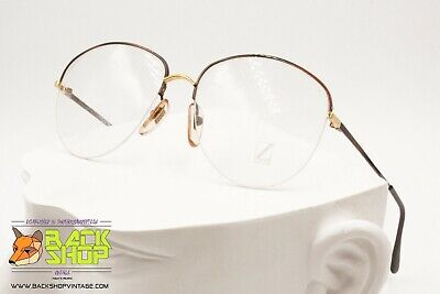 Lozza Mod. Nyrim 4, 56[]16 Half Rimmed Frames Glasses Nylor, Made In Italy 1970s