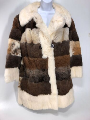 FULL LENGHT 100% REAL FUR COAT BELTED Thigh Length