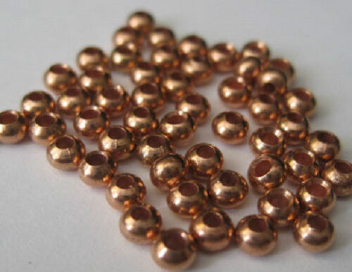 """Copper Color Brass Beads for Fly Tying 3//32/"""" 2.5mm 50 pkg MAT225"""