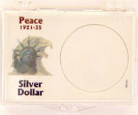 Peace Silver Dollar 1921-1935, 2x3 Snap Lock Coin Holders, 3 Pack
