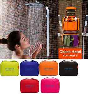 Polyester/ Nylon Ladies Mens Wash Bag Travel Bag Toiletries Makeup Bag Zipper UK