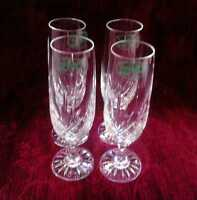 Crystal Champagne Glasses - Made In Poland - Set Of 4 -