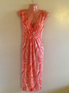 Plus-Size-Women-039-s-Sleeveless-Paisley-Print-Surplice-Dress-1X-2X-3X