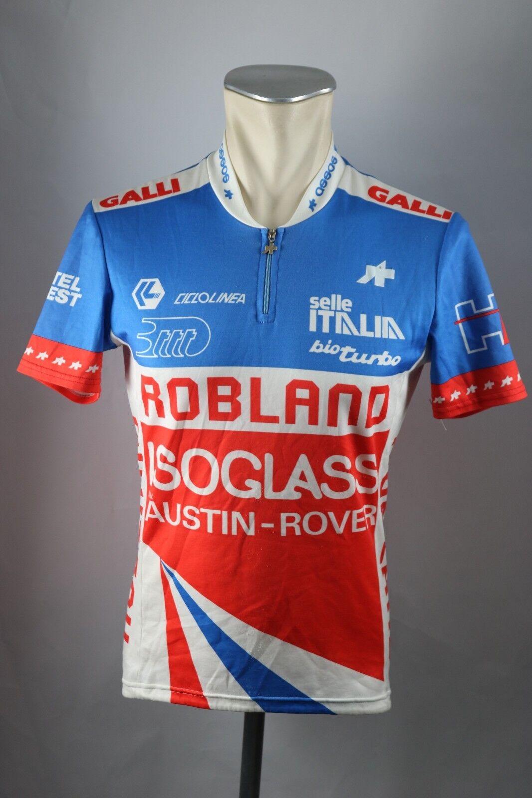 Assos Robland Isoglass Team 1987 Rad Trikot Gr. M  Bike cycling jersey Shirt S5