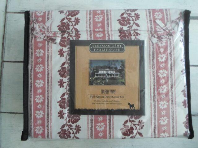 Beekman 1802 Farm House Darby Way Full / Queen Duvet Cover Set 100% Cotton New