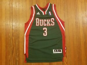 73489041af5 Image is loading Milwaukee-Bucks-Brandon-Jennings-Adidas-Green-NBA-Jersey-