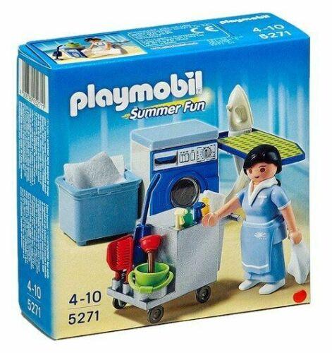 modern house-blue washing machine laundry room 3206 hotel 5271 Playmobil r291