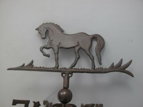 Wetterfahne Pferd Wandmontage braun Wetterhahn Gestüt Windfahne