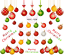 thumbnail 2 - Xmas-Baubles-Christmas-Nail-Decal-Water-Transfer-Sticker-Tattoo