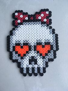 Détails Sur Pixel Art Perles A Repasser Tete De Mort Monster High