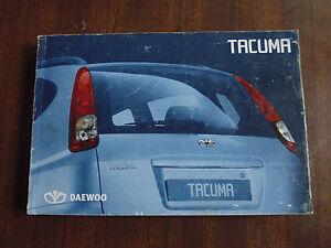2004 daewoo tacuma owner s manual ebay rh ebay co uk daewoo nubira service manual daewoo nubira service manual