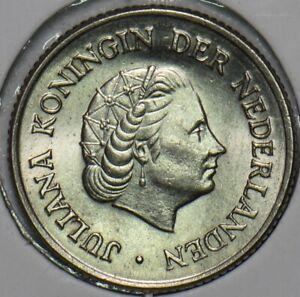 Netherlands 1951 25 Cents 152456 combine