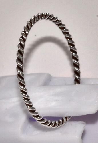 massiv Sterling Silber 925 Stapelring Beisteckring gedreht gekordelt zierlich