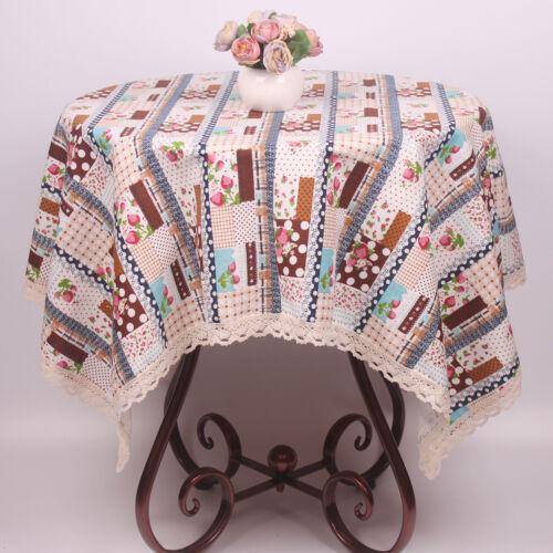 CURCYA Nordic Style nappes Fraise fleurs coton linge de table couvre