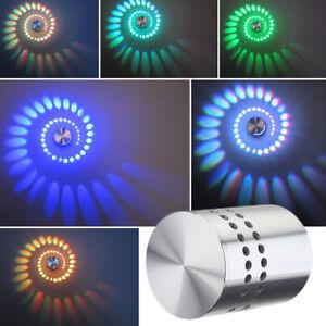 3W-RGB-spirale-LED-Lampe-Murale-Applique-Multicolore-Plafonnier-telecommande